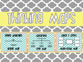Coral and Mint Thinking Maps