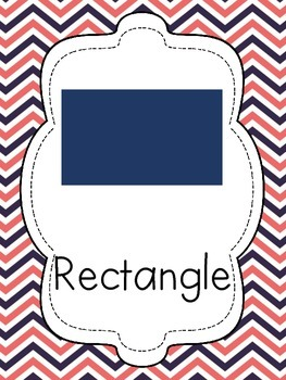 Coral and Navy Shape Posters - 2D and 3D!!