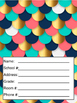 Coral and Navy Teacher Calendar and Planner