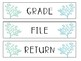 Coral and Starfish 3 Drawer Labels