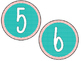 Coral and Teal Numbers