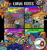 Coral reefs biome clip art- 162 items!