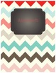 Coral/Turquoise Chalkboard Binder Covers! SO CUTE!
