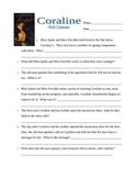 Coraline Comprehension Test & Answer Key