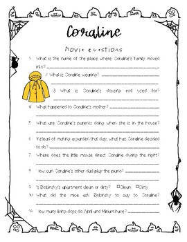 Coraline Movie questions ONLY