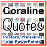 Coraline Novel Quotes Posters and Powerpoints