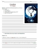 Coraline Unit Plan: Reading and Study Guide With Chapter Questions