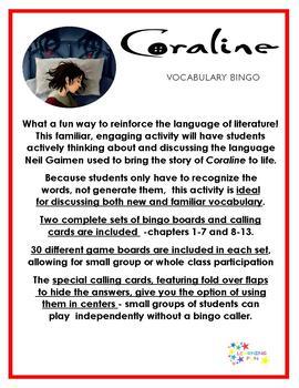 Coraline Vocabulary Bingo