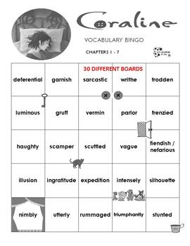 Coraline Vocabulary Bingo