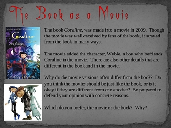 Coraline, by N. Gaiman, Interactive Novel Powerpoint