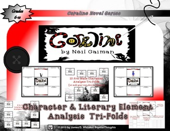 Coraline by Neil Gaiman Character and Plot Analysis Tri-Folds