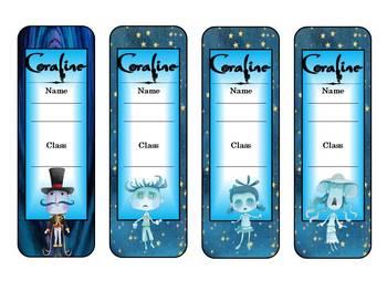 Coraline by Neil Gaiman Bookmarks
