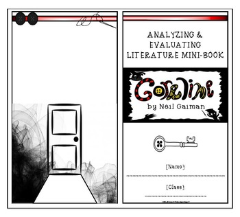 Coraline by Neil Gaiman Literary Element Analysis Mini-Book
