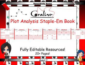 Coraline By Neil Gaiman Plot Analysis Staple Em Book By James Whitaker