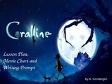 Coraline by Neil Gaiman Lesson Plan, Movie Chart and Writi