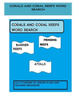 Corals and Coral Reefs Word Search