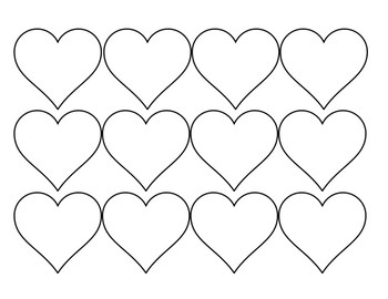 Corazones Blank Templates - Make Your Own