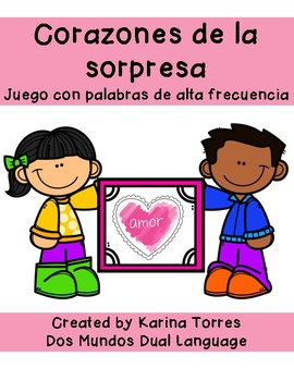 Corazones de la sopresa-Spanish mystery sight words