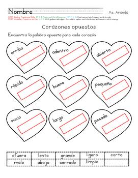 Corazones opuestos: Opposites in Valentine's day