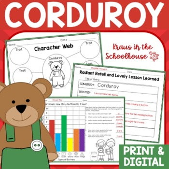 Corduroy Book Activities