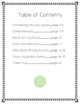 Corduroy Book Companion (Color Unit Green)