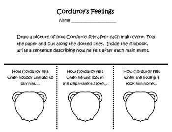 Corduroy Comprehension Packet