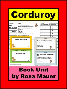 Corduroy by Don Freeman Book Unit