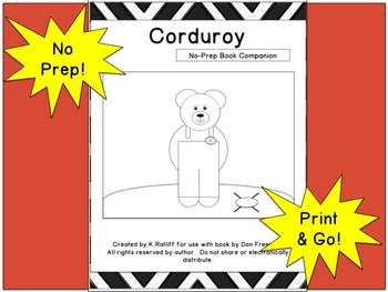 Corduroy:  No Prep Book Companion