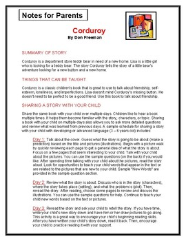 Corduroy Parent Notes