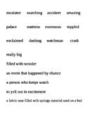 Corduroy Vocabulary Match
