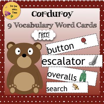 Corduroy Word Cards