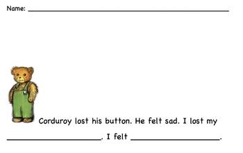 Corduroy Writing Prompt