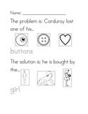 Corduroy problem/solution worksheet