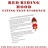 Cite Text Evidence - Complete Lesson High Interest - Red Riding Hood