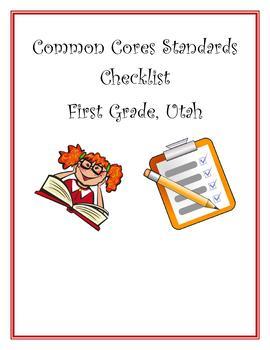 Core Checklist First Grade Utah