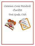 Core Checklist First Grade Utah