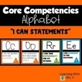 Core Competencies ALPHABET Posters