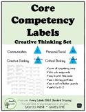 Core Competencies LABELS Creative Thinking Set