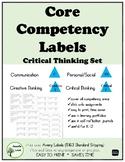 Core Competencies LABELS Critical Thinking Set