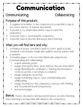 Core Communication Competencies New BC Curriculum