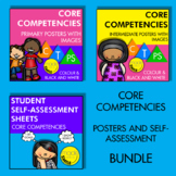 Core Competencies Posters With Images Set and Self-Assessment Bundle