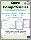 Core Competencies Primary Draw & Write Bundle to  support BC's new curriculum