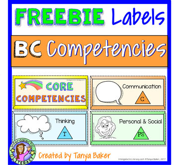 Core Competency FREEBIE - Labels