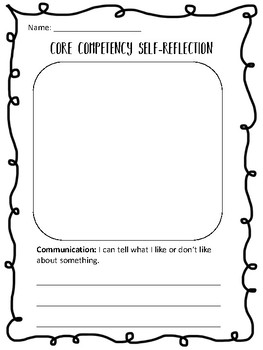 Core Competency Self-reflection for Kindergarten & Grade 1 BC New Curriculum