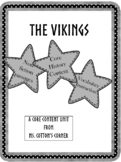 Core Content Unit - The Vikings - Vocabulary and Content combined!