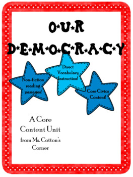 """Core Content unit """"Our Democracy"""" - Vocabulary and Content - Distance Learning"""