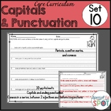 Core Curriculum Capitals, Punctuation and Commas Set 10