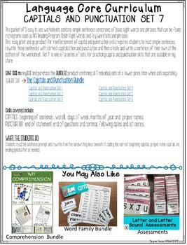 Core Curriculum Capitals and Punctuation Set 7
