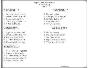 Core Curriculum Capitals and Punctuation Set 8