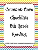 Core Curriculum Checklists 5th Grade Reading with Resource Lists - Chevron